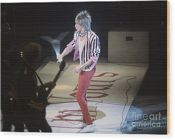 Rod Stewart Wood Print by David Bishop