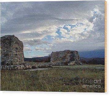 Roman Ruins Wood Print by Judy Kirouac