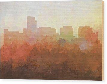 Wood Print featuring the digital art Rosslyn Virginia Skyline by Marlene Watson