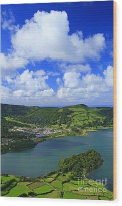 Sete Cidades - Azores Wood Print by Gaspar Avila
