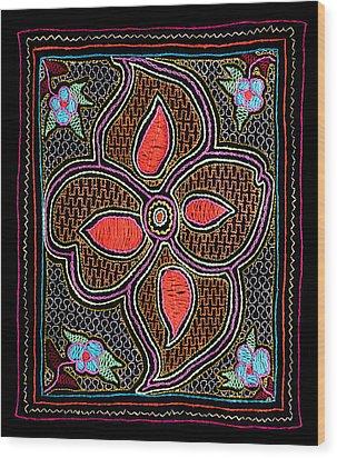 Wood Print featuring the photograph Shipibo Art by Ulrich Schade