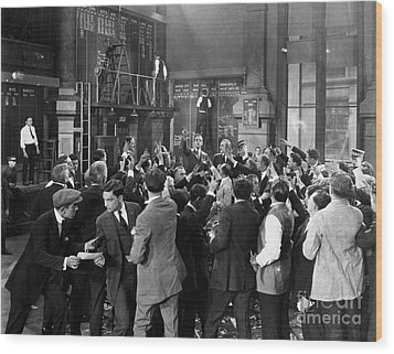 Silent Film Still: Crowds Wood Print by Granger