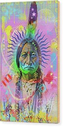 Sitting Bull Wood Print by Gary Grayson
