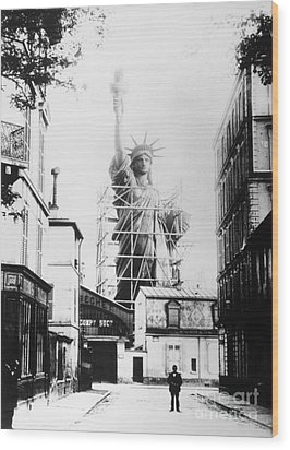 Statue Of Liberty, Paris Wood Print by Granger