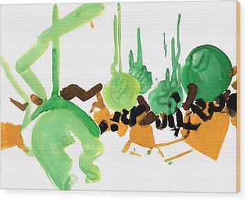Stylish Wood Print by Natoly Art