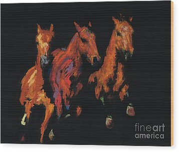 The Competitive Edge Wood Print by Frances Marino