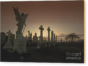 The Graveyard Wood Print by Angel  Tarantella
