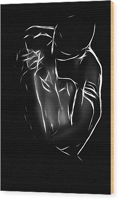 The Kiss Wood Print by Steve K