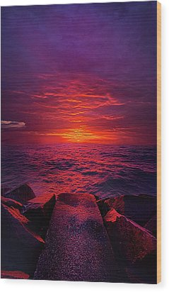 Wood Print featuring the photograph The Path by Phil Koch