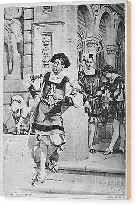 Two Gentlemen Of Verona Wood Print by Granger