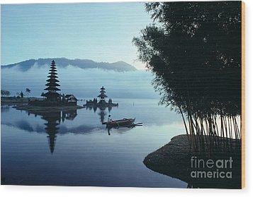 Ulu Danu Temple Wood Print by William Waterfall - Printscapes