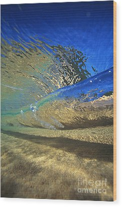 Underwater Wave Wood Print by Vince Cavataio - Printscapes