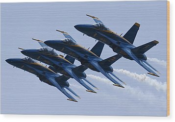 Us Navy Blue Angels Poster Wood Print by Dustin K Ryan