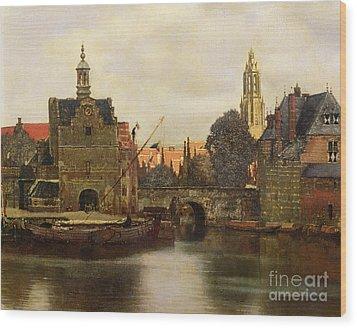 View Of Delft Wood Print by Jan Vermeer