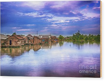 Wood Print featuring the photograph Village by Charuhas Images