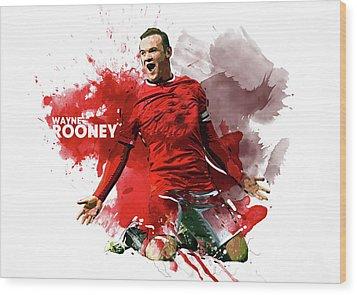 Wayne Rooney Wood Print