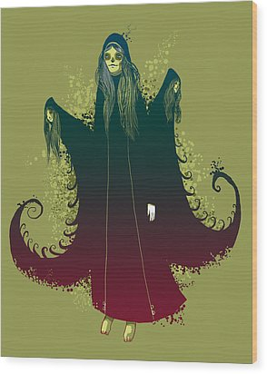 3 Witches Wood Print by Michael Myers