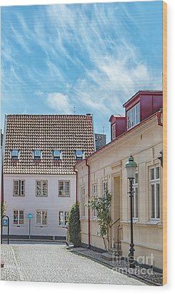 Wood Print featuring the photograph Ystad Street Scene by Antony McAulay
