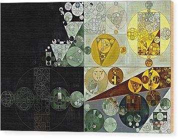 Wood Print featuring the digital art Abstract Painting - Smoky Black by Vitaliy Gladkiy