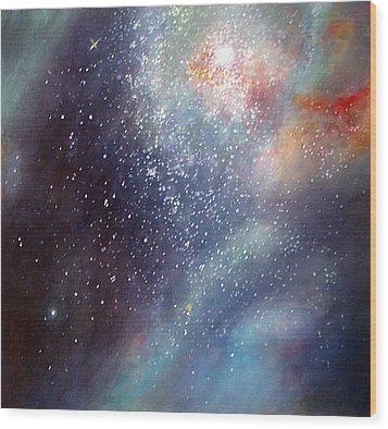 30 Doradus Nebula Wood Print by Allison Ashton