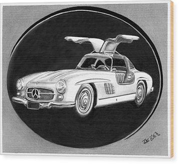 300 Sl Gullwing Wood Print