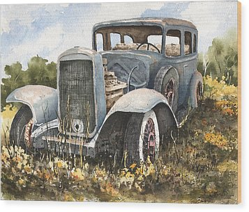 32 Buick Wood Print by Sam Sidders