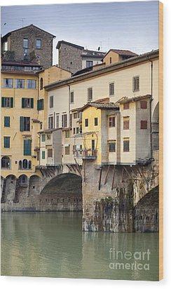 Ponte Vecchio Wood Print by Andre Goncalves