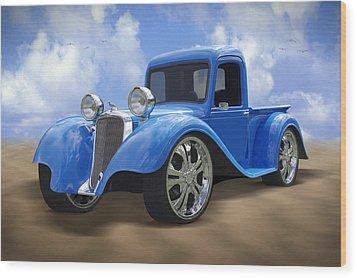 34 Dodge Pickup Wood Print by Mike McGlothlen