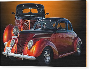 35 Ford Wood Print by Jim  Hatch