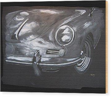 356 Porsche Front Wood Print