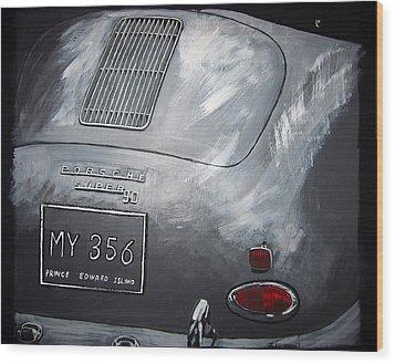 356 Porsche Rear Wood Print