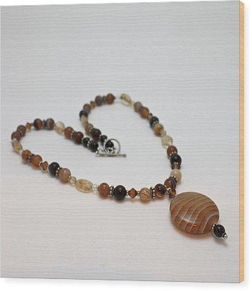 3574 Coffee Onyx Necklace Wood Print by Teresa Mucha