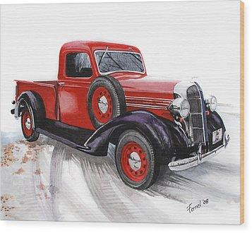 36 Dodge Wood Print by Ferrel Cordle