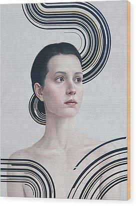 365 Wood Print by Diego Fernandez