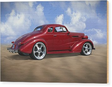 37 Chevy Coupe Wood Print by Mike McGlothlen