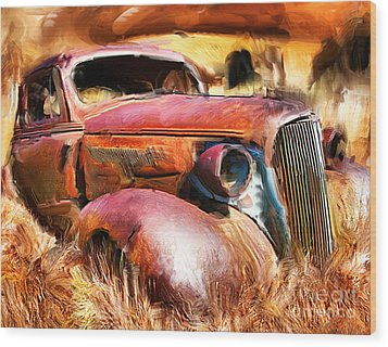 37 Chevy Wood Print by Tom Griffithe