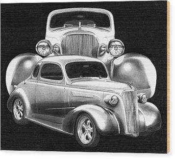 37 Double C Wood Print
