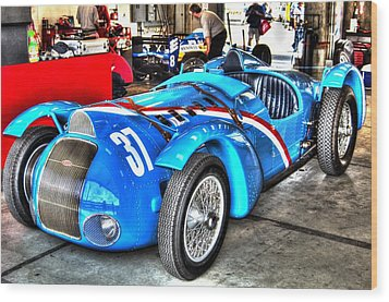 Delahaye Fast From The Front Wood Print by Josh Williams