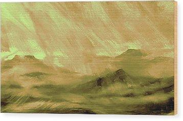 Earth Light Series Wood Print by Len Sodenkamp
