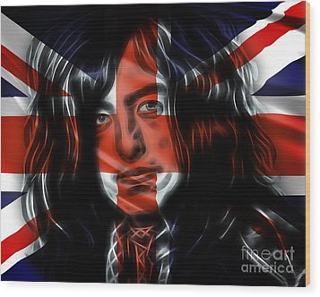 Jimmy Page Collection Wood Print