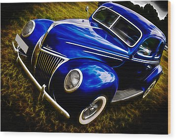 39 Ford V8 Coupe Wood Print by Phil 'motography' Clark