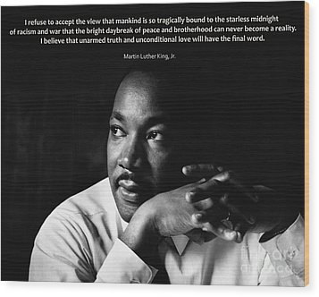 39- Martin Luther King Jr. Wood Print by Joseph Keane