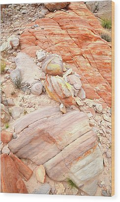 Wood Print featuring the photograph Multicolored Sandstone In Valley Of Fire by Ray Mathis