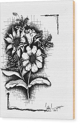 Untitled Wood Print by Teddy Campagna