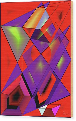 3d-cubes Wood Print by Helmut Rottler