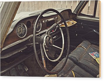 1964 Austin Westminster - Detail Wood Print by Cendrine Marrouat