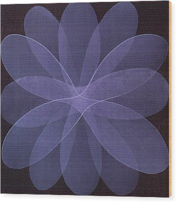 Abstract Flower  Wood Print by Jitka Anlaufova