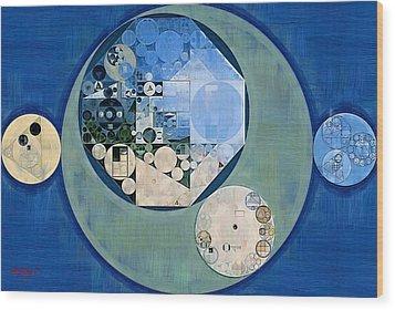 Wood Print featuring the photograph Abstract Painting - Bermuda Grey by Vitaliy Gladkiy