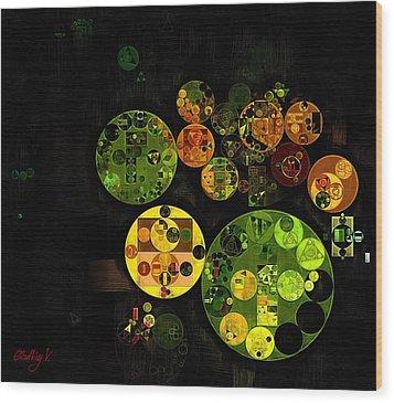 Wood Print featuring the digital art Abstract Painting - Black by Vitaliy Gladkiy