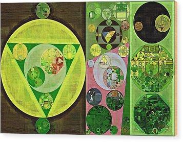 Wood Print featuring the digital art Abstract Painting - Myrtle by Vitaliy Gladkiy